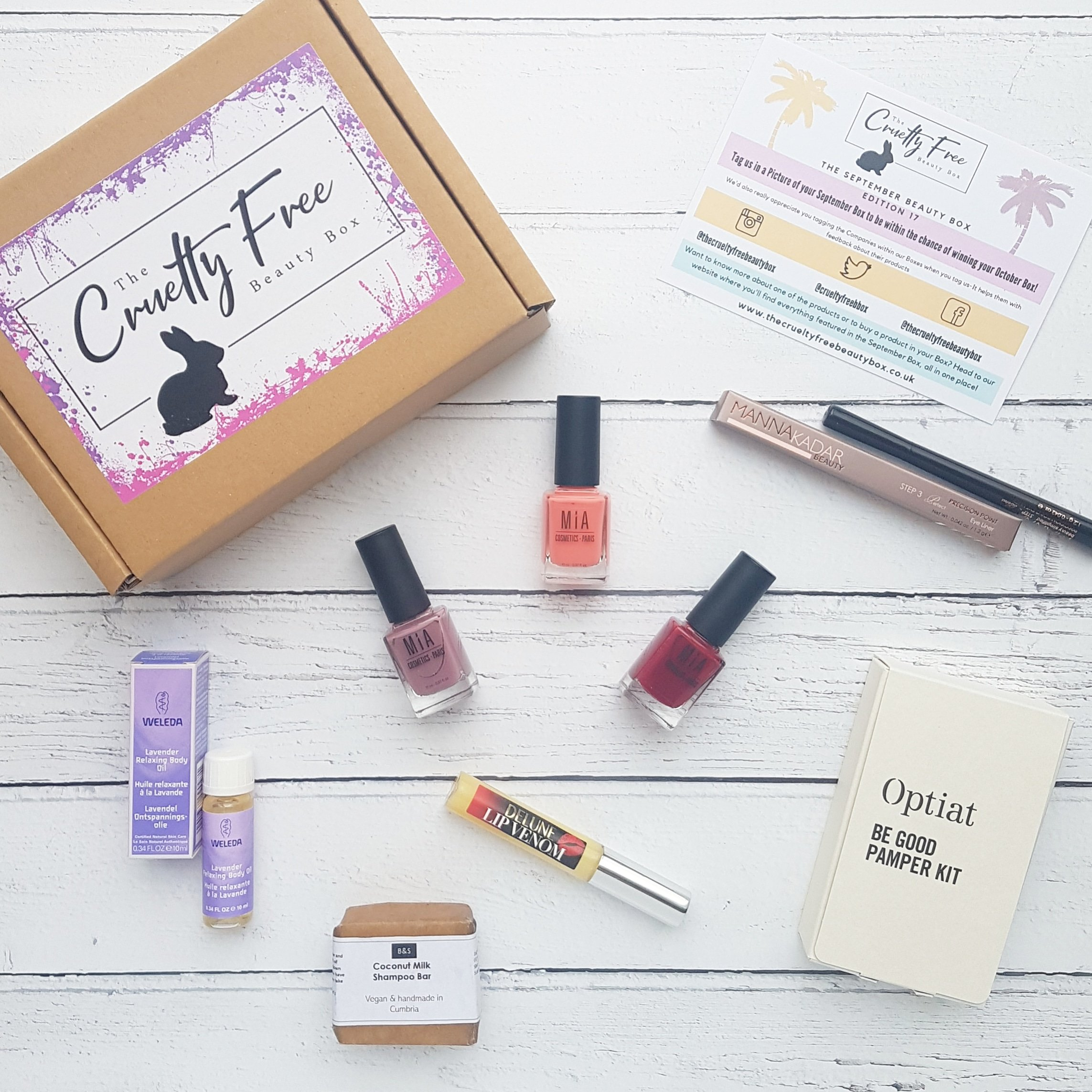 Cruelty Free Beauty Box - Example products